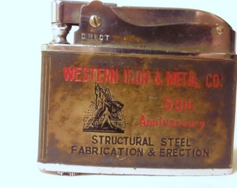 Vintage 1950's Western Iron & Metal Co.  Los Angeles LA 50th Anniversary Lighter