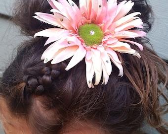 Flower hair pin, Flower hair clip, Flower hair accessory