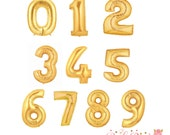 Gold Mylar Number Balloon 40""