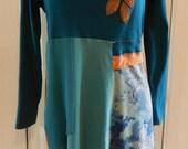 Bohemian Upcycled Art Tunic - Large/Plus Size