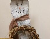 Snowman, Primitive Barn Wood Snowman, Winter Christmas Snowman Decoration