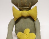 Primitive Frog Doll, Primitive Toad, Froggy Soft Sculpture, Spring Summer Animal Dolls