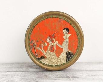 Vintage Body Powder Tin, By Three Flowers, Richard Hudnut