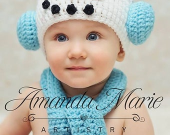 Ready to Ship- 6-12 mth Snowman Hat