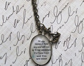 "Hillsong's ""Oceans"" Lyric Pendant Necklace"