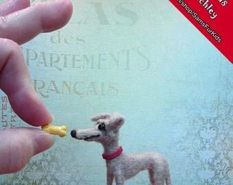 Felted Italian Greyhound, Miniature Needle Felted Greyhound, IG, Iggy Gifts, Handmade Italian Greyhound