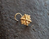 Nose stud - tribal star - nose jewelry - 14k gold nose stud - stud - gold jewelry - yellow gold - tragus
