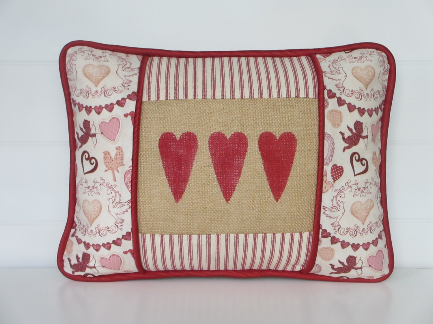 Decorative Valentine Pillows : Valentines Day Pillow Cover Cupid Decor Valentine Decor