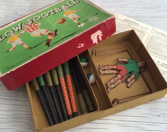 Vintage 1930s Blow Football game. Made in England, circa 1940s. Rare vintage game.