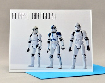 CLONE TROOPER Star wars Birthday CARD