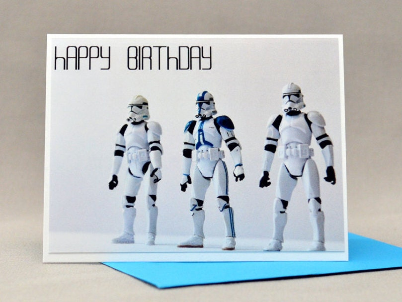 CLONE TROOPER Star wars Birthday CARD – Star Wars Birthday Card