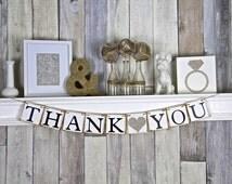 Thank you Banner, Thank you Sign, Thank you photo prop, Wedding thank you photo