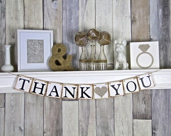Thank you Banner, Thank you Sign, Thank you photo prop, Wedding thank you photo