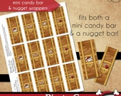 Pirate Cove Mini Candy Bar or Nugget Wrappers • PRINTABLE Birthday • Costume • by The Occasional Day