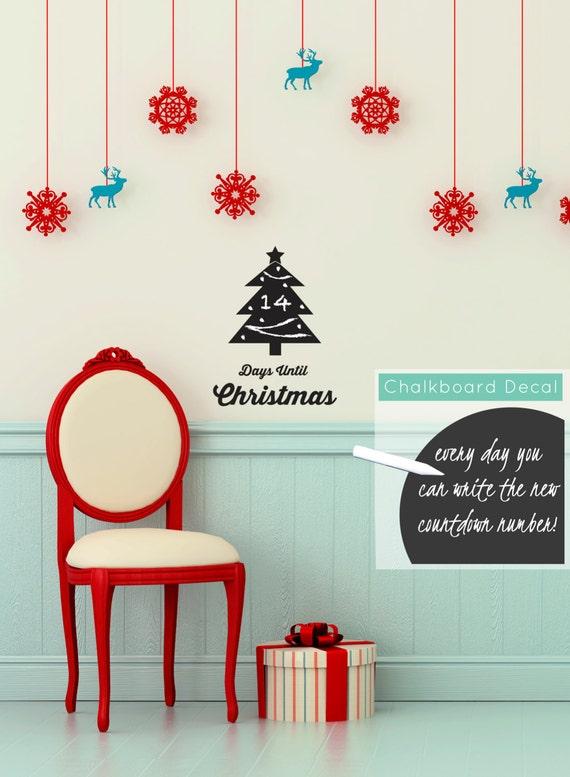 Chalkboard Christmas Countdown Calendar by danadecals