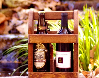 Bomber Carrier - Four Pack Carrier - 22 oz - Beer Bottle Carrier - Wine Tote