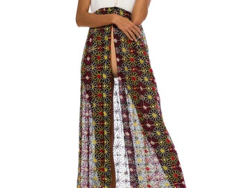 1970s Vintage Ethnic Embroidered Dress  Size: XS/S