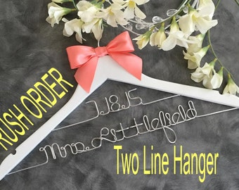 20% OFF SALE Two Tier RUSH Listing /  personalized wedding hanger / bridal shower gift