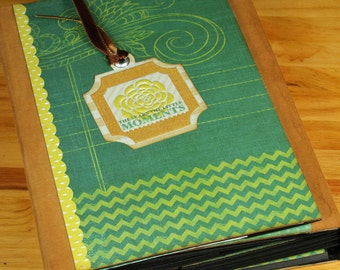 Scrapbook Album for Photos - For The Record, Interactive, Handmade