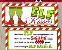 Elf Kisses Treat Bag TOPPERS - Snowman Treat Bag Toppers - Snack ...