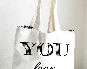You look amazing Tote Bag Large, Sturdy, Heavyweight Canvas Grocery Bag
