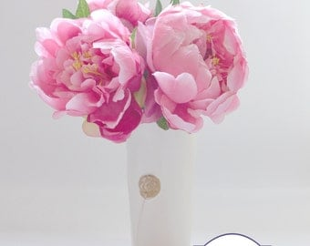 Pink Peony Bouquet - Small Bouquet, Small Peony Bouquet, Flower Arrangement