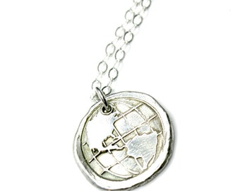 World Jewelry Globe One World Gift for her Love the World