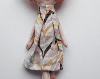 The Etta Dames Collection: Della. Felt Doll. Children's Room Decor.
