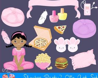 Slumber Party2 Clipart Set