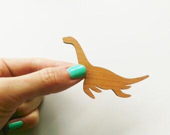 Dinosaur Plesiosaur Pin. Dinosaur Brooch. Loch Ness Monster. Nessie. Dinosaur of the Sea. Sauropterygia. Sea Dinosaur Badge. Paleontologist