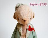 SALE Teddy Bear Dima - Artist Teddy Bears - Stuffed Animal - Stuffed Bear - Mohair Teddy Bears - Soft Toys