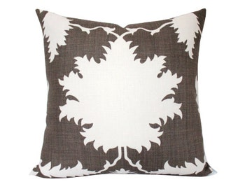 Schumacher Garden of Persia Pillow Cover in Brown
