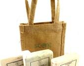 Organic Soap  Vegan Soap. 3 Bars & free gift bag