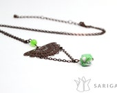 Origami jewelry - Chôko, necklace handmade with washi paper. Hand folded paper beads