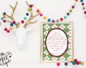 INSTANT DOWNLOAD, Christmas Vacation Quote Printable, No. 253-5