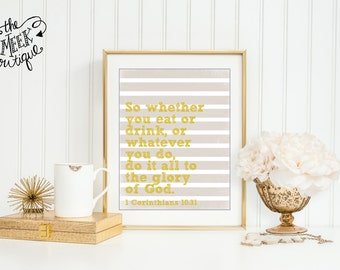 INSTANT DOWNLOAD, Scripture Kitchen Wall Art Printable, No. 35