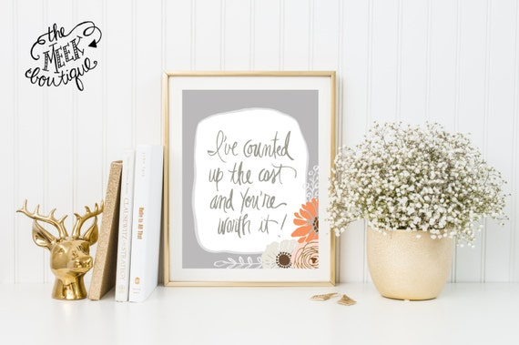 INSTANT DOWNLOAD, I've Counted Up the Cost, Rend Collective Lyrics, Handwritten, No. 455