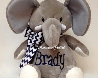 Personalized Plush Stuffed Elephant Soft Toy