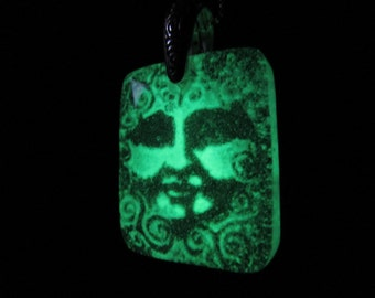 La Lune - Glow in the Dark Glass Necklace Pendant