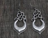 Ethnic earrings, earrings ,handcrafted earrings , Anatolia jewelry , tribal earrings , handmade earrings , silver earring silver-plated