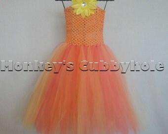 Citrus Orange Tutu Dress