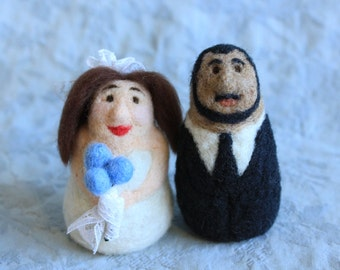 Custom Cake Toppers - Felt Portraits of You or Your Pets