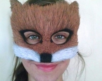 Red Fox Fur Mask