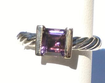 David Yurman 14 karat gold , Amethyst ring R617