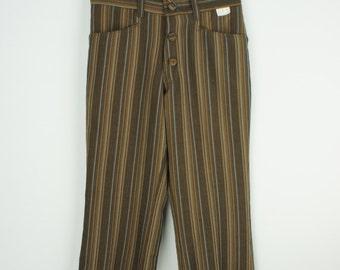 Vintage Kids Deadstock 60's Flare Leg Striped Pants size 8