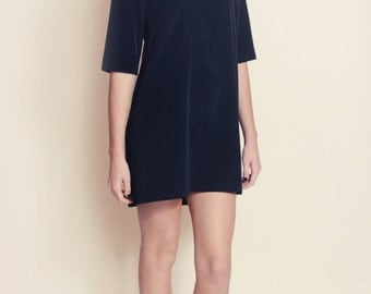 Black Lace Shift Dress with sleeves