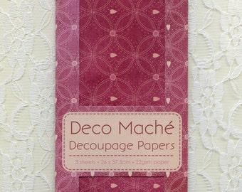 DECOUPAGE PAPER, Deco Mache, Burgundy Decoupage Paper, Collage Paper, Mixed Media Paper, Wine Decoupage Paper, Red Decoupage Paper