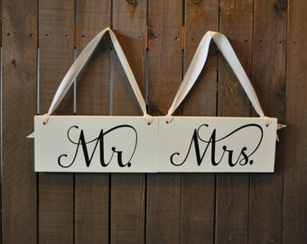 Mr and Mrs Wedding Signs, Mr and Mrs Reception Signs, Bride Groom Signs Reception Decorations,Photograph Signs Wedding Signs, Just Married