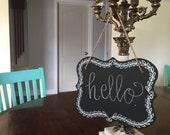 Hanging Leaf Chalkboard Sign