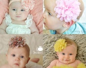 PICK ANY baby headband, large flower headband, baby girl headbands, infant, newborn headband, baby girl hair bow, baby accessories